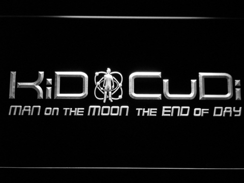 Image of Kid Cudi Man On The Moon LED Neon Sign - White - SafeSpecial