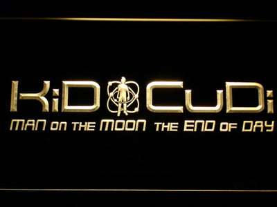 Kid Cudi Man On The Moon LED Neon Sign - Yellow - SafeSpecial