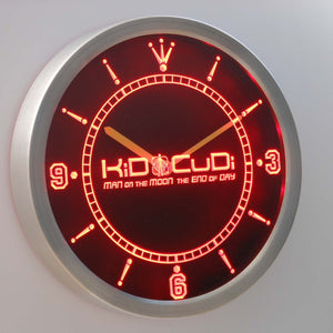 Kid Cudi Man On The Moon LED Neon Wall Clock - Red - SafeSpecial