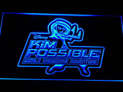 Kim Possible LED Neon Sign - Blue - SafeSpecial