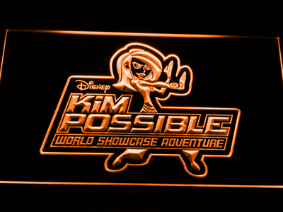 Kim Possible LED Neon Sign - Orange - SafeSpecial