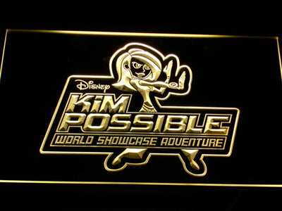 Kim Possible LED Neon Sign - Yellow - SafeSpecial