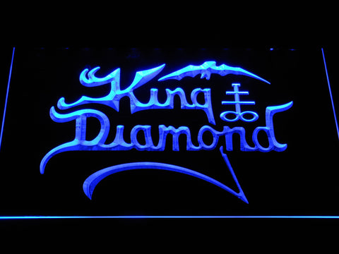 King Diamond LED Neon Sign - Blue - SafeSpecial