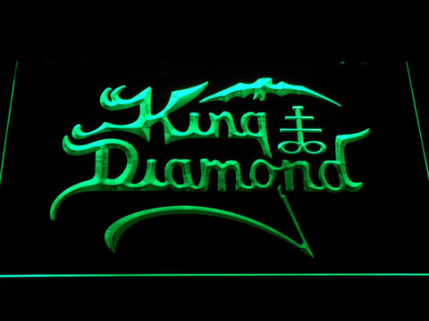 King Diamond LED Neon Sign - Green - SafeSpecial