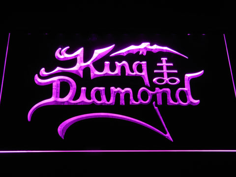 King Diamond LED Neon Sign - Purple - SafeSpecial