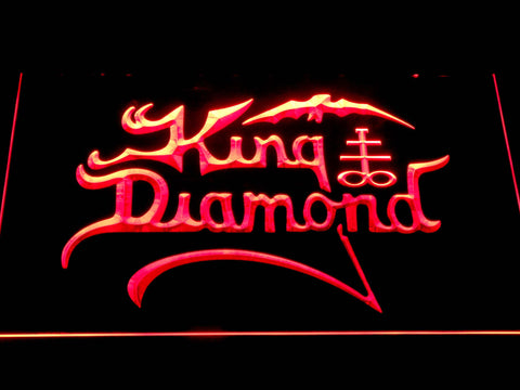 King Diamond LED Neon Sign - Red - SafeSpecial