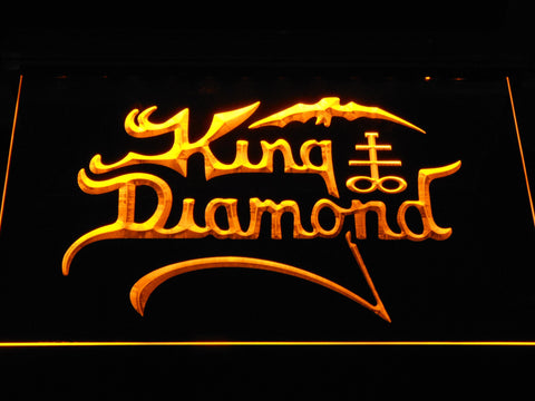 King Diamond LED Neon Sign - Yellow - SafeSpecial