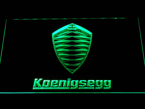 Koenigsegg LED Neon Sign - Green - SafeSpecial