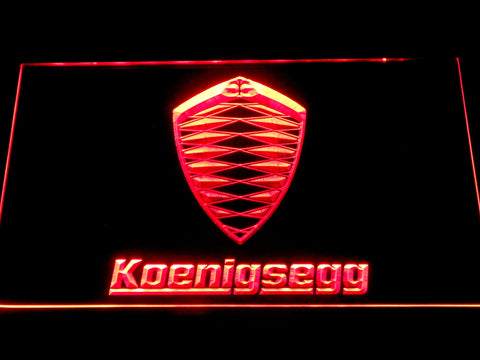 Koenigsegg LED Neon Sign - Red - SafeSpecial