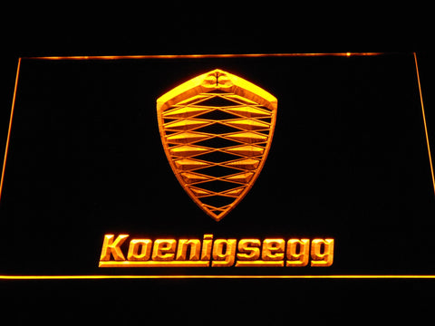 Koenigsegg LED Neon Sign - Yellow - SafeSpecial