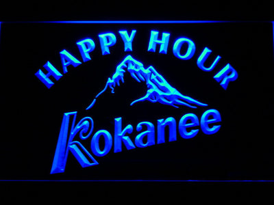 Kokanee Happy Hour LED Neon Sign - Blue - SafeSpecial