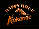 Kokanee Happy Hour LED Neon Sign - Orange - SafeSpecial