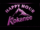 Kokanee Happy Hour LED Neon Sign - Purple - SafeSpecial