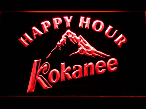 Kokanee Happy Hour LED Neon Sign - Red - SafeSpecial