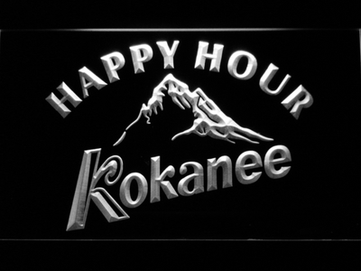 Kokanee Happy Hour LED Neon Sign - White - SafeSpecial