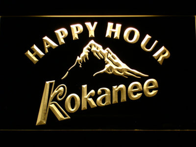 Kokanee Happy Hour LED Neon Sign - Yellow - SafeSpecial