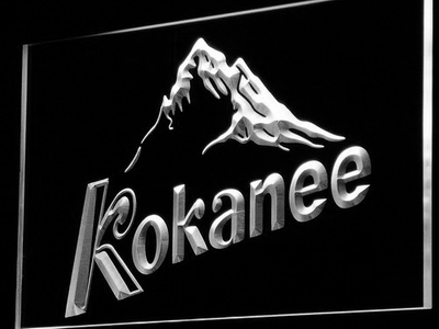 Kokanee LED Neon Sign - White - SafeSpecial