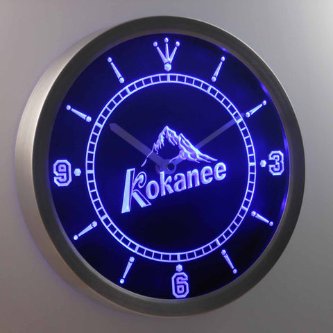 Image of Kokanee LED Neon Wall Clock - Blue - SafeSpecial