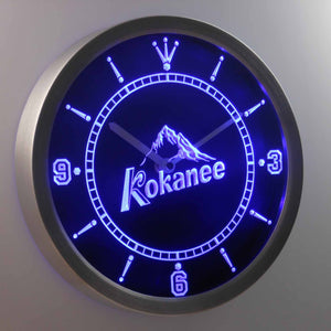 Kokanee LED Neon Wall Clock - Blue - SafeSpecial