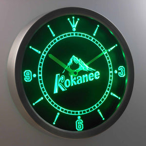 Kokanee LED Neon Wall Clock - Green - SafeSpecial
