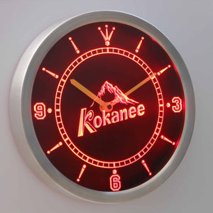 Kokanee LED Neon Wall Clock - Red - SafeSpecial