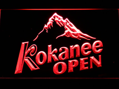 Image of Kokanee Open LED Neon Sign - Red - SafeSpecial