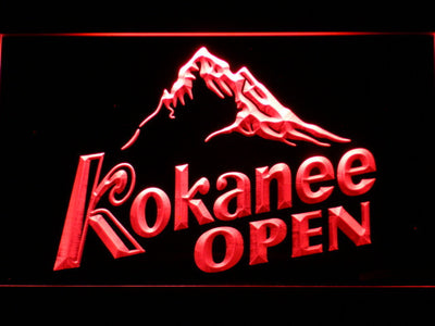 Kokanee Open LED Neon Sign - Red - SafeSpecial