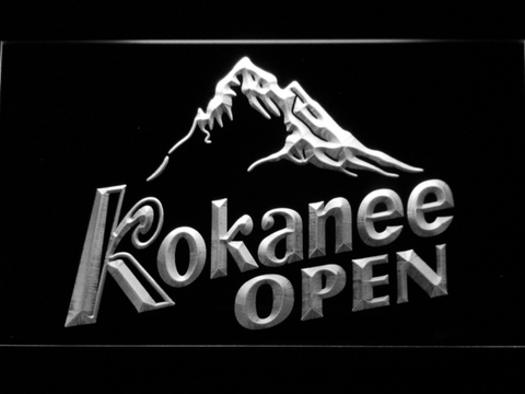 Image of Kokanee Open LED Neon Sign - White - SafeSpecial