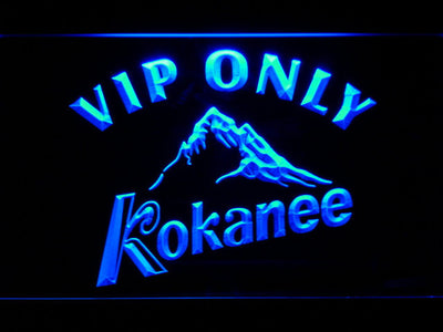 Kokanee VIP Only LED Neon Sign - Blue - SafeSpecial