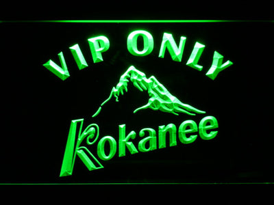 Kokanee VIP Only LED Neon Sign - Green - SafeSpecial