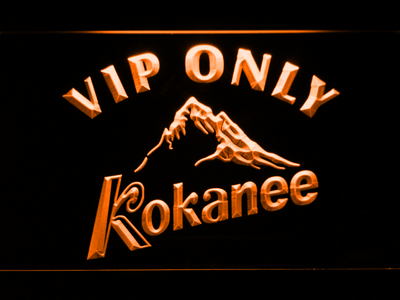 Kokanee VIP Only LED Neon Sign - Orange - SafeSpecial