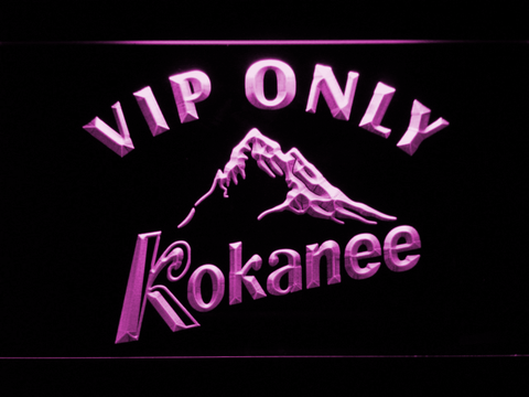 Image of Kokanee VIP Only LED Neon Sign - Purple - SafeSpecial