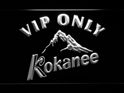 Kokanee VIP Only LED Neon Sign - White - SafeSpecial