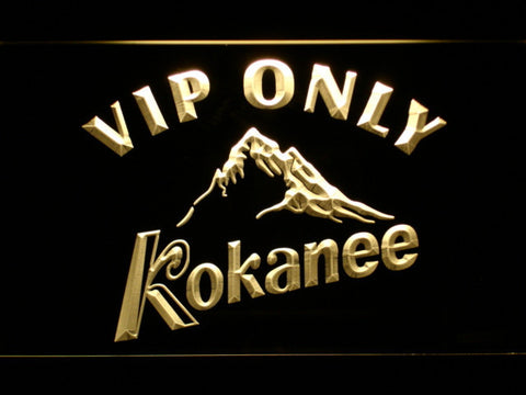 Image of Kokanee VIP Only LED Neon Sign - Yellow - SafeSpecial