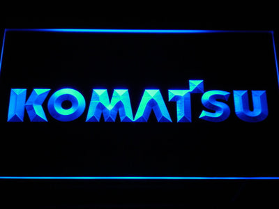 Komatsu LED Neon Sign - Blue - SafeSpecial