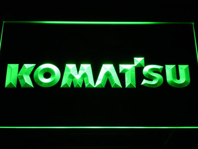 Komatsu LED Neon Sign - Green - SafeSpecial