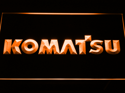 Image of Komatsu LED Neon Sign - Orange - SafeSpecial