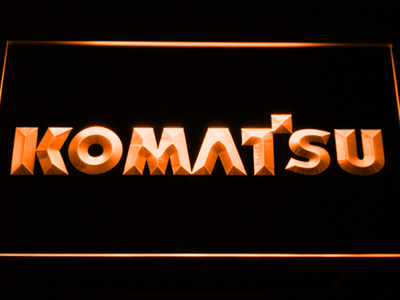 Komatsu LED Neon Sign - Orange - SafeSpecial