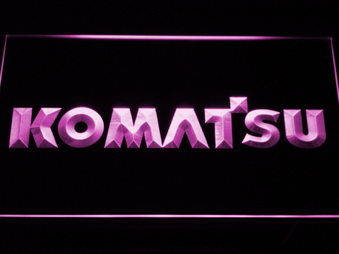 Image of Komatsu LED Neon Sign - Purple - SafeSpecial
