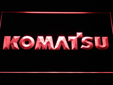 Image of Komatsu LED Neon Sign - Red - SafeSpecial