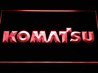 Komatsu LED Neon Sign - Red - SafeSpecial