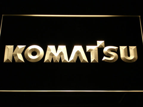 Image of Komatsu LED Neon Sign - Yellow - SafeSpecial