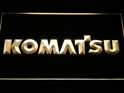 Komatsu LED Neon Sign - Yellow - SafeSpecial