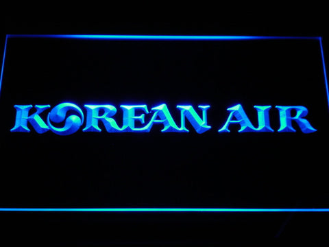 Image of Korean Air LED Neon Sign - Blue - SafeSpecial
