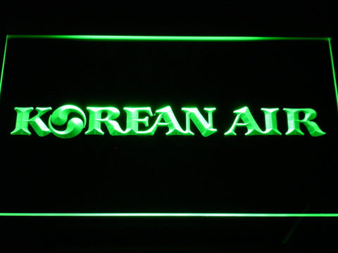 Image of Korean Air LED Neon Sign - Green - SafeSpecial