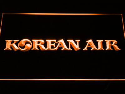 Korean Air LED Neon Sign - Orange - SafeSpecial