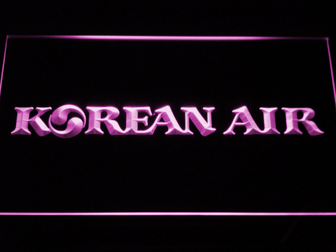 Image of Korean Air LED Neon Sign - Purple - SafeSpecial