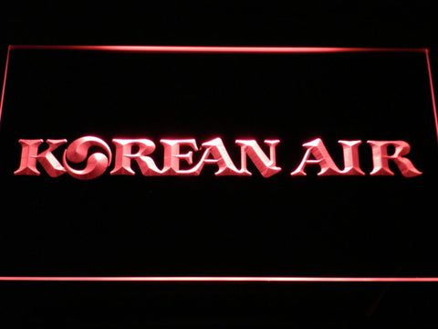Image of Korean Air LED Neon Sign - Red - SafeSpecial