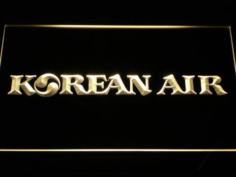 Image of Korean Air LED Neon Sign - Yellow - SafeSpecial