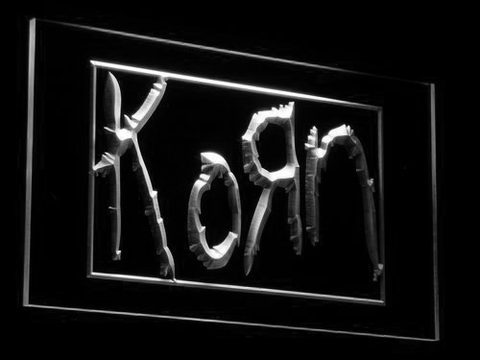 Korn LED Neon Sign - White - SafeSpecial